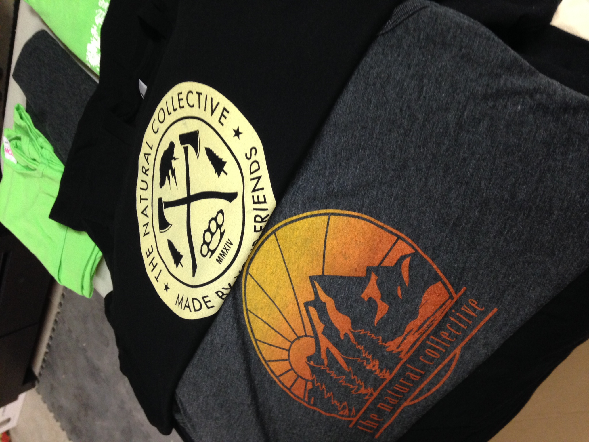 Order of hand-made American Apparel ethical tee shirts